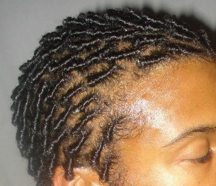 Comb coils with no relaxer.