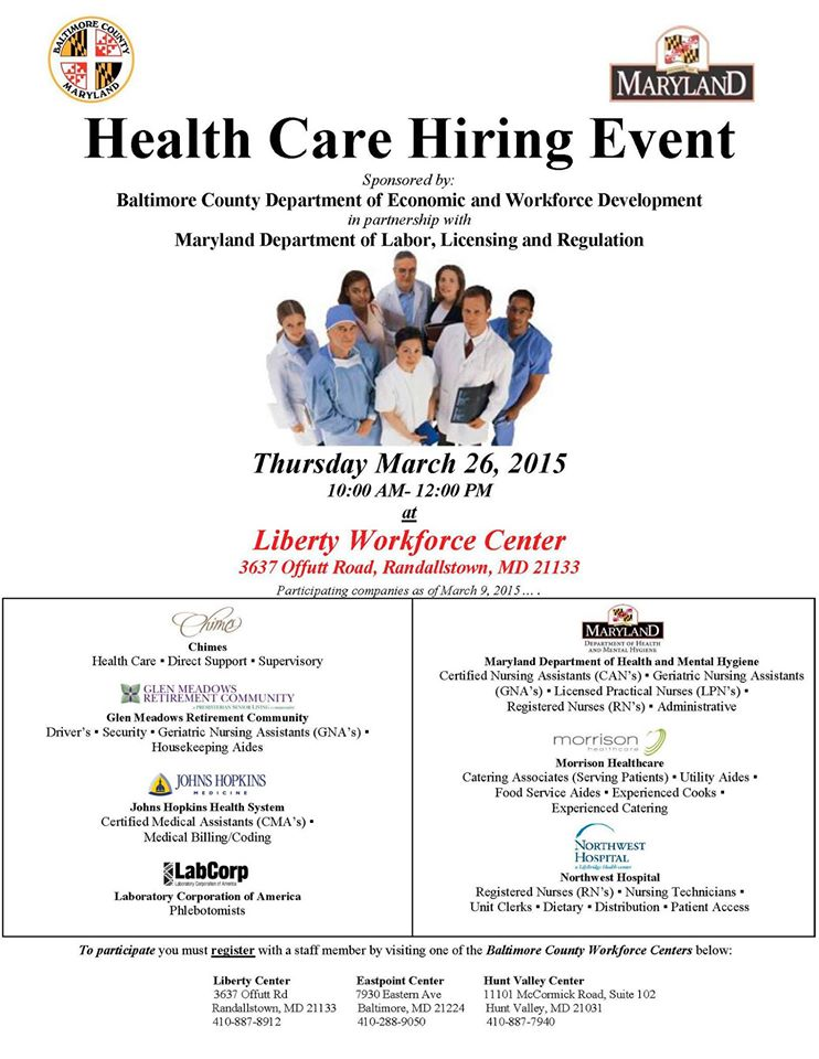 health care hiring event